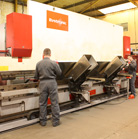 5 Pressbrake machines with capacity up to 6m & 150 tonnes